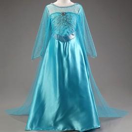 Jelmez - Jégvarázs Elza jelmez Elsa hercegnő ruhája hosszú uszállyal ( új )