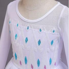 Jelmez - Gyönyörű tüllös Elza jelmez Elsa ruha uszállyal Jégvarázs 2.( új )