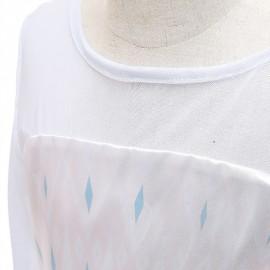 Jelmez - Jégvarázs 2 Gyönyörű Elza jelmez Elsa fehér lilás ruha 130-as ( új )