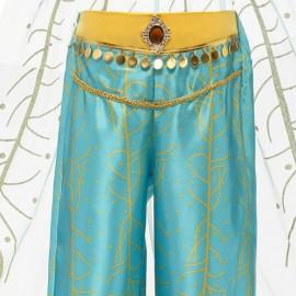 Jelmez - Jázmin hercegnő jelmez lecsatolható palásttal, hajpánttal többféle méretben ( új )