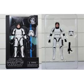 Star Wars (Csillagok Háborúja) - Han Solo rohamosztagos páncélban 17 cm-es Hasbro akciófigura ( új )
