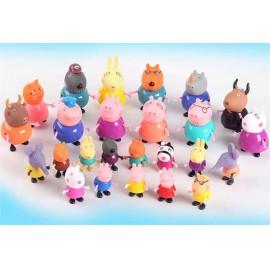 Peppa Pig Peppa figurák 25 db-os készlet Peppa családja és barátai ( új )
