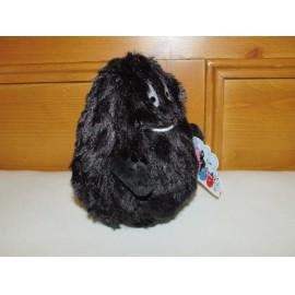 """Barbaszőr - Barbapamacs plüss, 15 cm-es fekete """"szőrös"""" plüssjáték a Barbapapa című mesesorozatból ( új )"""