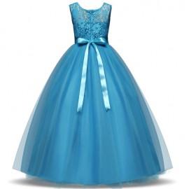 Koszorúslány ruha, gyönyörű tüllös alkalmi ruha -  azúrkék ( új )