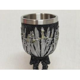 Trónok harca kupa Vastrónra emlékeztető díszítéssel, Game of Thrones kupa ( új )