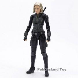 Fekete Özvegy akciófigura a Marveltől, Natasha Romanoff 14 cm-es Bosszúálló figura ( új )