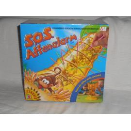 Mattel - Bukfencező majmok társasjáték, ügyességi játék,  Majmos társasjáték