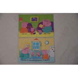 Peppa Puzzle, Ravensburger  2 x 12 db-os Peppa malac puzzle