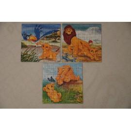 Az oroszlánkirály puzzle 3x49 db-os Ravensburger puzzle, The Lion King puzzle ( használt )