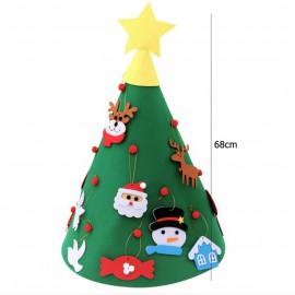 Díszíthető 3D karácsonyfa filc anyagú ( új )